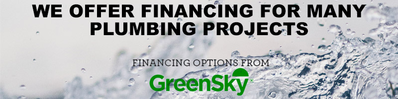 Financing options for plumbing service