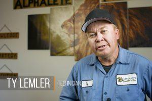 Screen shot of video of Ty Lemler