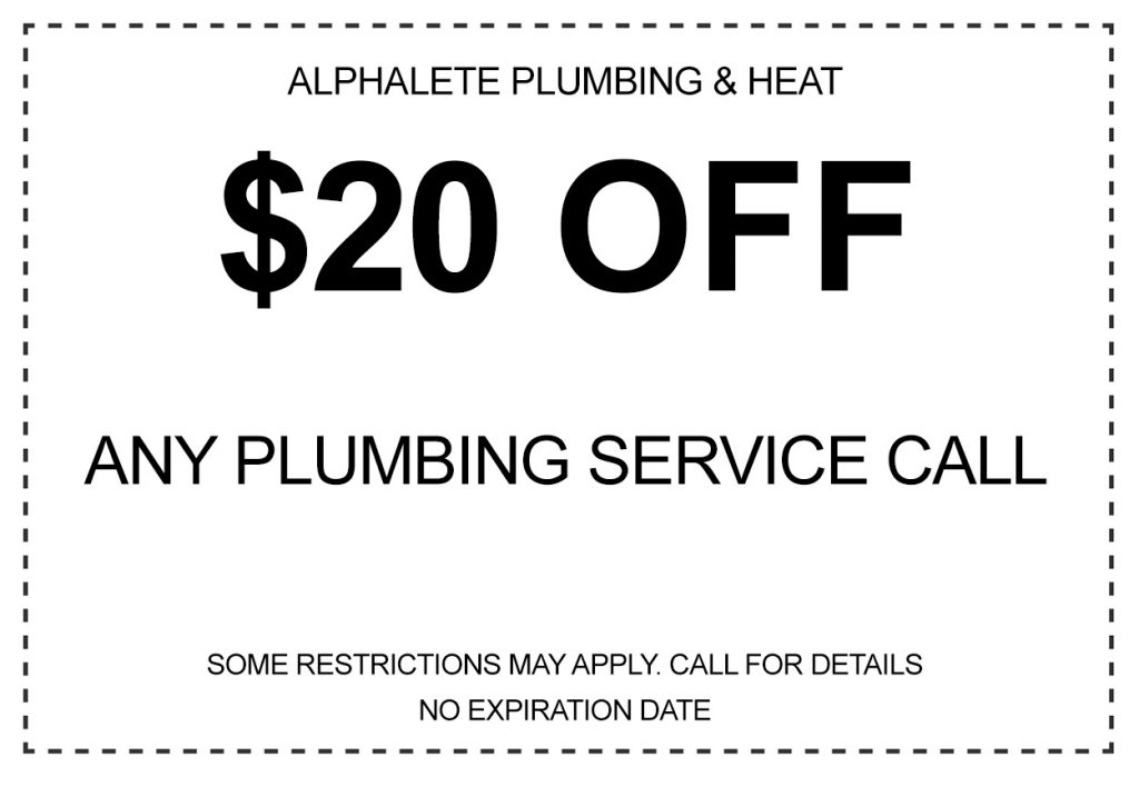 $20 off any plumbing service call coupon