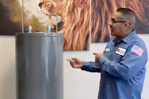 Diego Lujan offering a free hot water heater