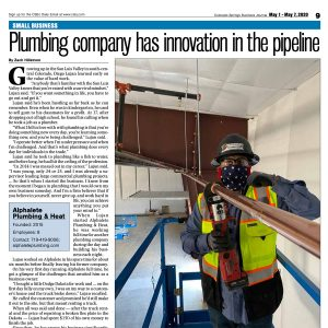 Screenshot of Colorado Springs Business Journal article