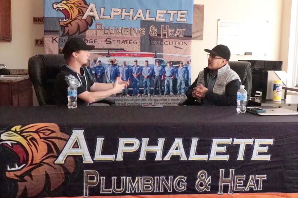 Podcast interview with Diego Lujan, founder of Alphalete Plumbing
