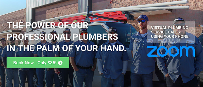 Alphalete Virtual banner showing the our virtual plumbing service